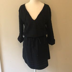 NWT Lou & Gray Black Linen Dress - Sz Small